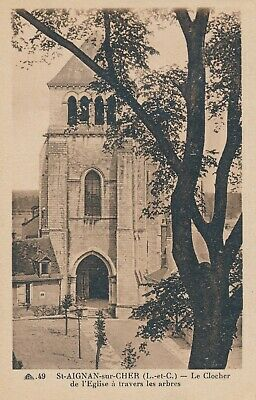 CPA - France - (41) Loir et Cher - Saint Aignan Noyers - Le clocher de l'Eglise