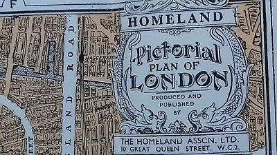 Vintage Central London Map printed in colour with index. Excellent Condition.