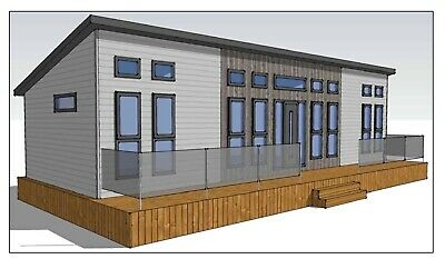 Modular Office 40ft X 14ft On Wheels. With Bathroom & Central Heating