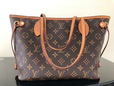 AUTHENTIC LOUIS VUITTON Browns Monogram Tote Bag Neverfull PM ... 1242cbc35bfbf