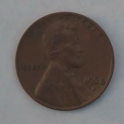 1968 Lincoln Memorial Penny, Denver Mint, Circulated
