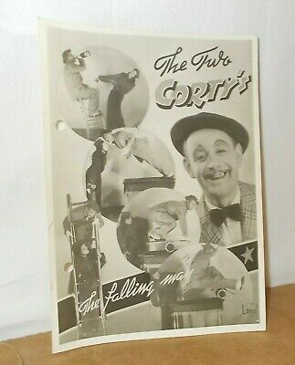 Ancienne photo thème CIRQUE CIRCUS CLOWN CIRCO - THE TWO CORTY'S the falling man