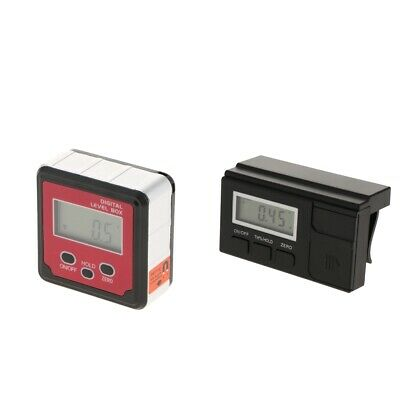 Level Meter Angle Tester Inclinometer Black/Red LCD Gauge Protractor 1Piece