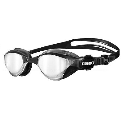 Arena Cobra Tri Mirror Swimming Goggles Triathlon Iron Man Silver Black Black