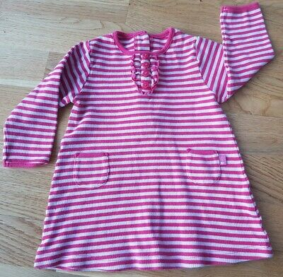Jojo Maman Bebe Pink Stripe Jersey Dress 6-12 Months Girls' Clothing (0-24 Months) Clothes, Shoes & Accessories