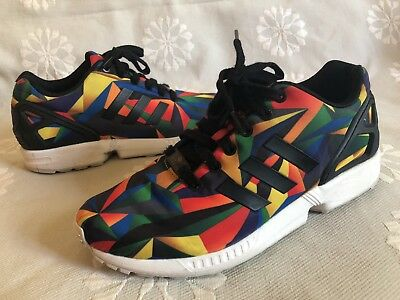 797c13678 ADIDAS ZX FLUX Multicolor Prism sz 12 Rainbow Multi-Color Pride ...