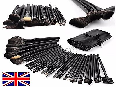 32 PCS Black Professional Kabuki Make Up Brushes Set Foundation Makeup VALUE