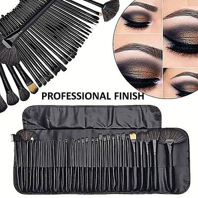 Professional 32 PCS Black  Kabuki Make Up Brushes Set Foundation Makeup ✅VALUE