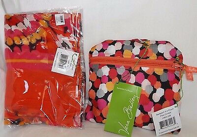 d77f1e6c57 VERA BRADLEY Backpack in a Pouch   SCARF - PIXIE CONFETTI   BLOOMS New ...