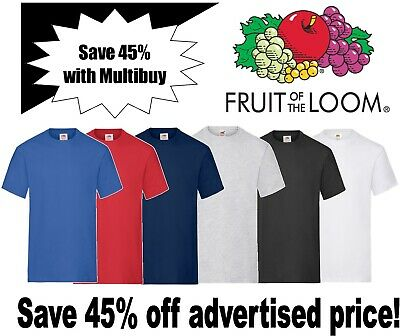 Fruit of the Loom MENS Heavy Weight T-Shirts 100% Cotton Multipack Sizes S-3XL**