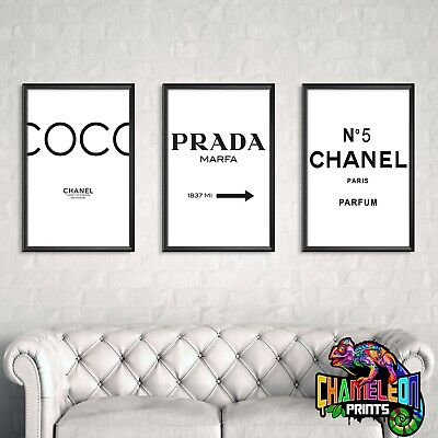 Chanel Poster Set A4 A3 Chanel No 5 Prada Poster *** BUY 2 GET 1 FREE***