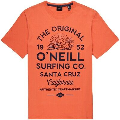 O'Neill NEW Men's Muir T-Shirt Burning Orange BNWT