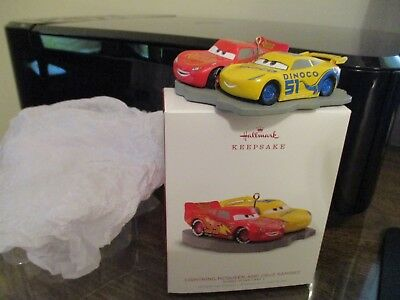 "2018 Hallmark Keepsake  Ornament ""Lightning Mcqueen And Cruz Ramirez Freeshippin"