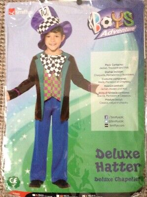 Smiffys Deluxe Mad Hatter Outfit Size 10-12 Years World Book Day
