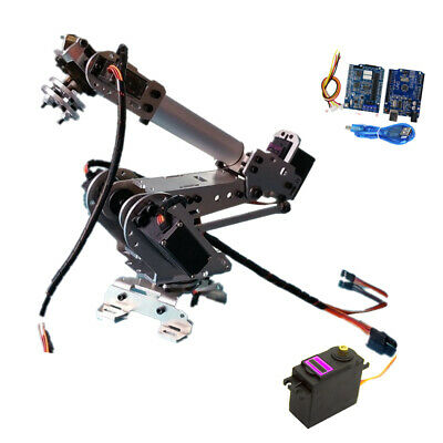 6-Axis Assembled Robotic Mechanical Arm Gripper Kit with Servo for Raspberry