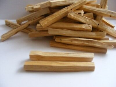 25 x PALO SANTO ORGANIC Sacred Holy Incense/Smudge sticks Wild Harvested