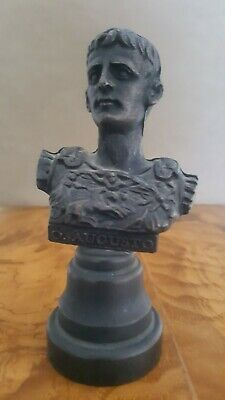 Ancient Roman Empire First Emperor Augustus Bronze Bust Statue