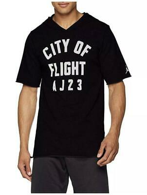 c8c3d43ea2bc54 NEW Nike Men s Jordan JSW City Of Flight Short Sleeve Hoodie 911317-010  Size 2XL