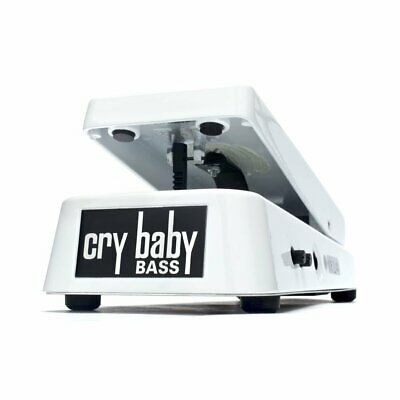 Dunlop Crybaby Bass 105Q White Cry Baby Bass Wah Effects Pedal