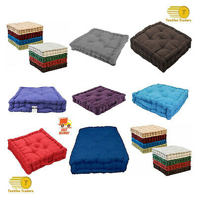 Chunky Thick Booster Cushion Soft Square Seat Pad Armchair Garden Office 1//2//4//6