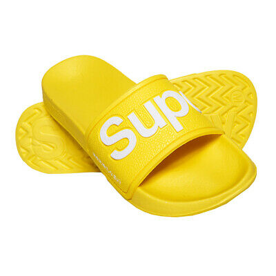 Superdry NEW Women's EVA Pool Slide Flip Flops - Neon Yellow BNWT
