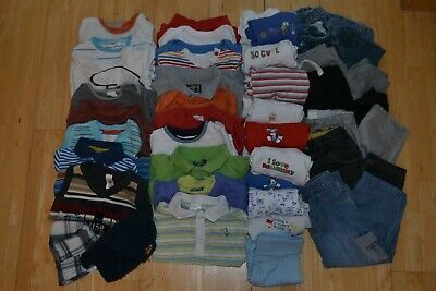 61c01a7d24a Baby Boy s Large Spring Summer Clothing Bundle - 12-18 Months - 44 Items