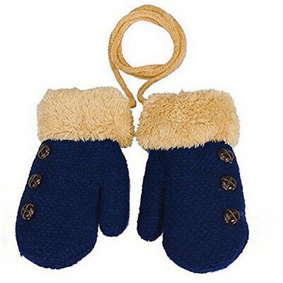 Thick Winter Gloves Solid Hot Full Finger Rope Mittens For Children Wear LH