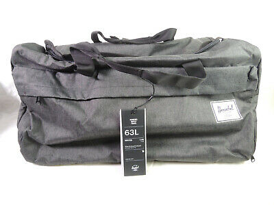 ad53f9e45a37 Herschel Supply Co. Outfitter Travel Duffle Luggage Bag 63L in Black  Crosshatch