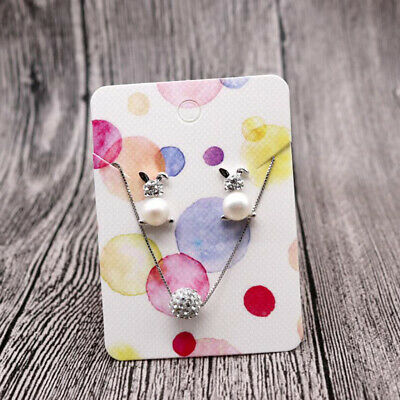 10 Different Exquisite Patterns Earrings Studs Packing Cards for Display