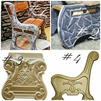 Bench Legs Plastic molds for dig concrete cement benches Garden Plaster Stone