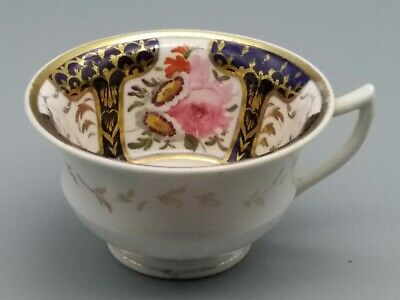 Antique English Porcelain Yates, Hicks & Meigh, New Hall Staffordshire Tea Cup