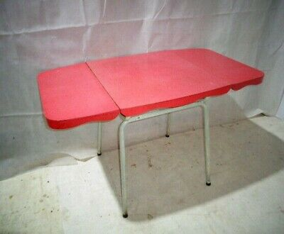 RETRO 50s RED FORMICA KITCHEN TABLE VINTAGE MAD DINING TABLE MID CENTURY TABLE