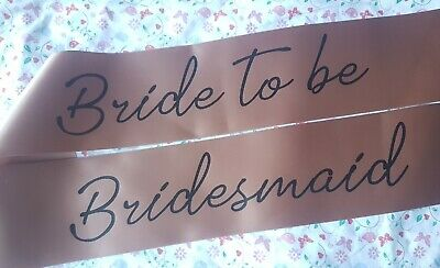 Rose gold BRIDE TO BE PERSONALISED Luxury Hen Party Night Do bridesmaid