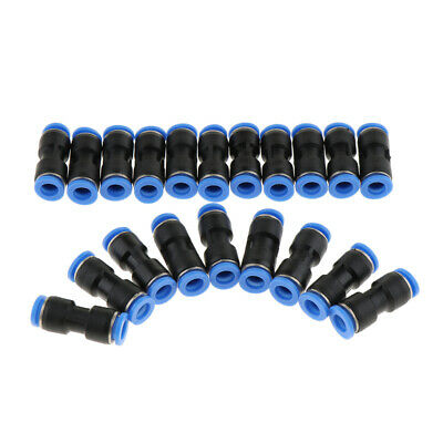 20 Pcs Pneumatic Quick Push In Fitting Straight Connector Air Water 4-16mm
