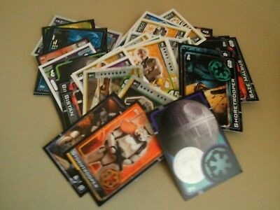 Star Wars trading cards - 75 mixed. Rogue One and Force Attax
