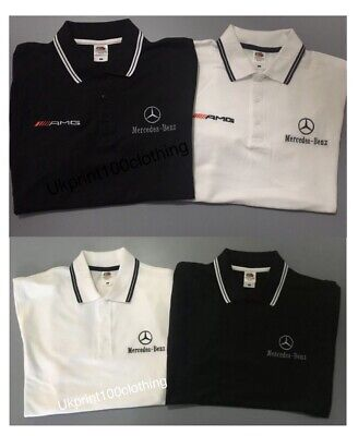 Mercedes Benz Logo/Amg Embroidered Tipped Polo Shirt  Jackets, S - 3Xl