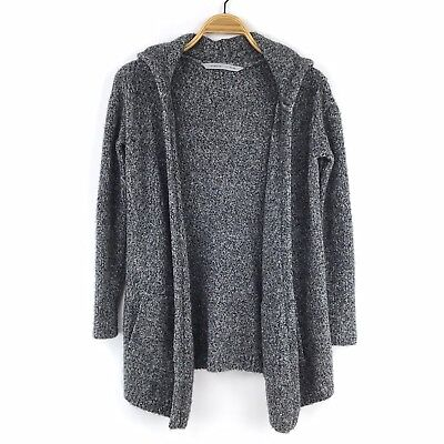 491d81d2b1 Athleta Open Front Cardigan Wrap Sweater XS Mill Valley Hoodie Wool Blend  Gray