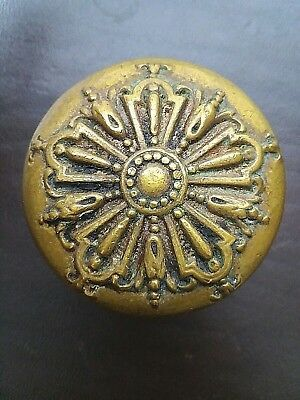 Barrows 5 Fold Door Knob Antique Victorian Eastlake Ornate Brass I - 10300 1905