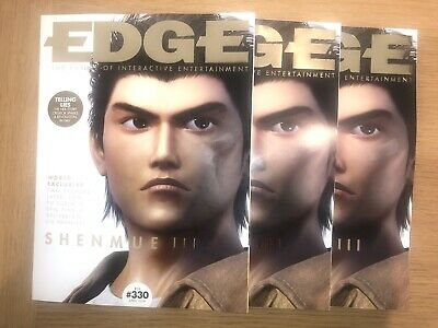 Subscriber Edition EDGE magazine 330 SHENMUE 3 Cover April 19  Resident Evil 2