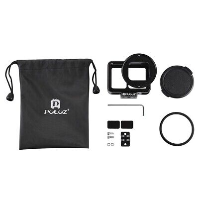 Shockproof Camera Protect Housing Case For Gopro Hero 7 White/Silver UV Filter