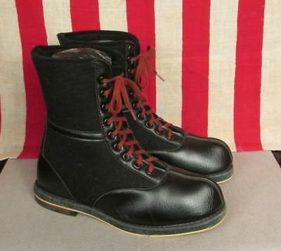 Vintage US Air Force Wool Felt Aviation Flight Boots WWII Flyers Military 7 NOS
