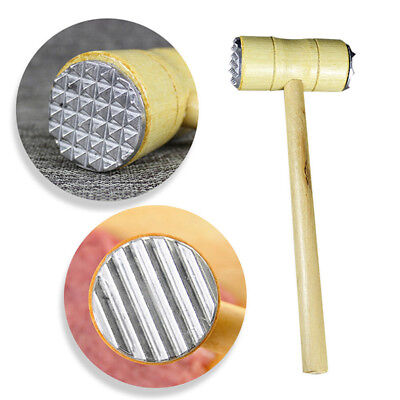 Meat Tenderizer Double Sided Kitchen Steak Meat Mallet Tool Food Hammer LH