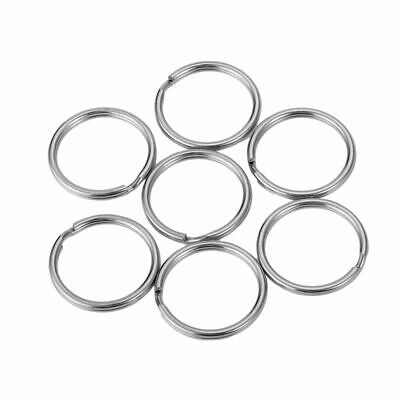 3X(Stainless Silver Tone Key Rings Jewelry High Quality DIY Size:20mm Each B4F5)
