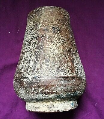 RARE ANCIENT SASANIAN  TERRACOTTA POT PERIOD DECORATION c 250/600AD