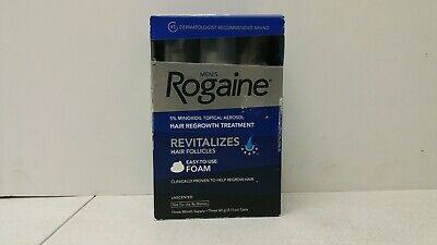 Men's Rogaine 5% Minoxidil Hair Regrowth Treatment -3 Months Supply Exp. 07/2018