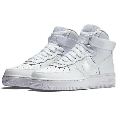 NIKE BIG KID'S Air Force 1 High (GS) Shoes NEW AUTHENTIC White 653998 100