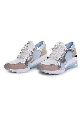 966eee9e4c0c Michael Kors Liv Extreme Trainer Fashion Sneakers in Pale Ocean Optic White