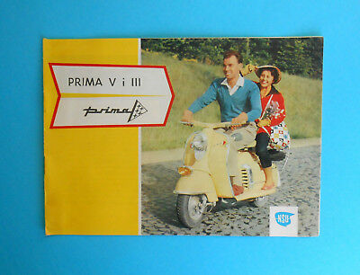 YUGOSLAVIAN ISSUE - NSU PRIMA V III motorcycle scooter old brochure Pretis Vespa