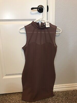 2e778573fb5 CHARLOTTE RUSSE BODYCON Dress Ribbed Wide Neck Large Millennial ...
