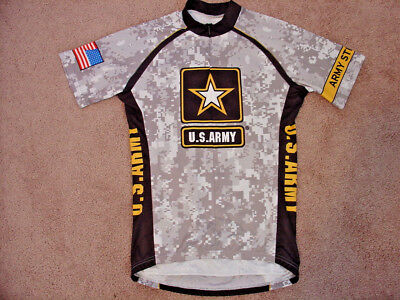 US ARMY CYCLING JERSEY Mens Large Bike Shirt 3 Back pockets Primal ... dbc9f8b2c